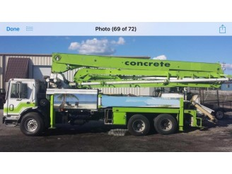 1991 MACK MR600 CONCRETE PUMP TRUCK